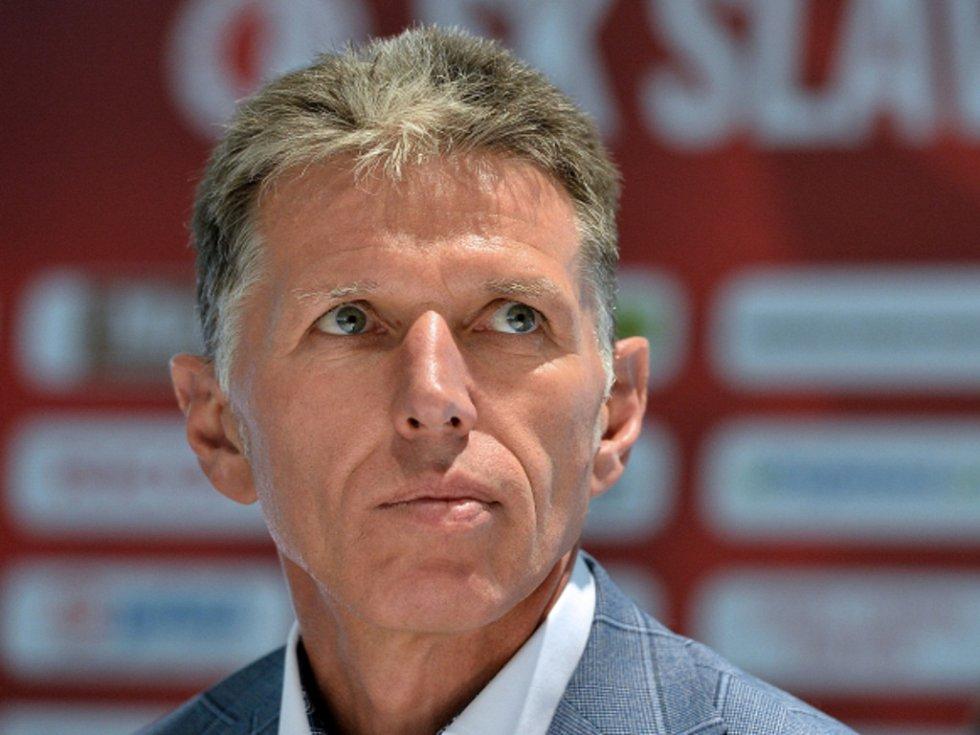 Trenér Slavie Jaroslav Šilhavý.