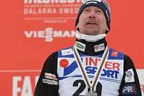 Lukáš Bauer se stříbrnou medailí z MS ve Falunu.