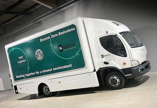 Nákladní elektromobil, jehož klíčové součásti se vyráběji v Avii