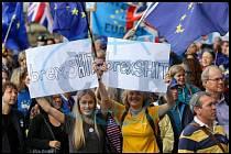 V Londýně lidé Brexit nechtějí.
