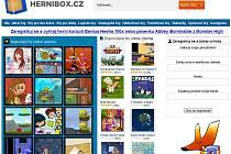 Náhled internetové stránky www.hernibox.cz.