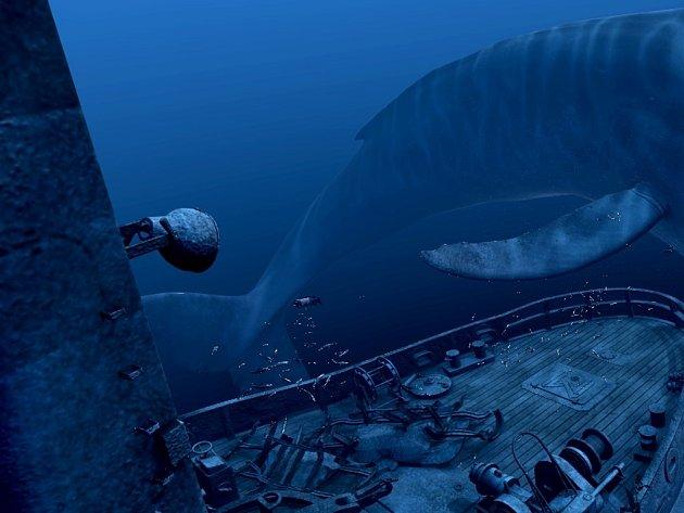 Virtuální realita: velryba sHTC Vive.