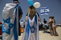 Oslavy 70. výročí vyhlášení nezávislosti v Izraeli.