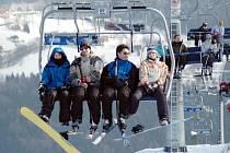 Nečekaně velký byl o  víkendu zájem lidí o lyžování.