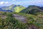 Pohoří Malá Fatra. Výhled z Velkého Kriváně.