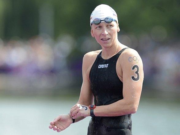 Česká dálková plavkyně Jana Pechanová na olympiádě v Londýně.