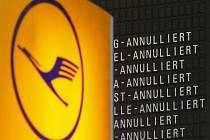 Zrušené lety společnosti Lufthansa. Ilustrační snímek