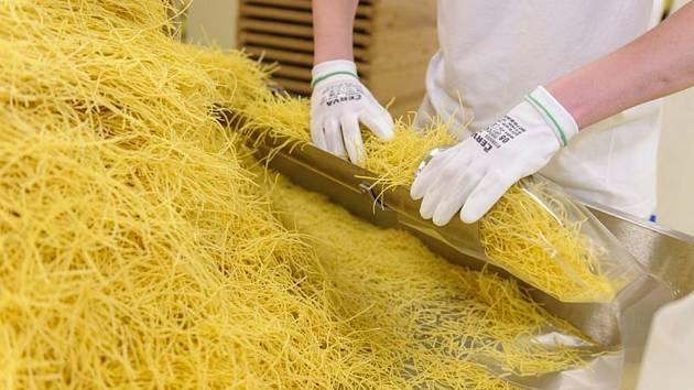 Výroba těstovin - ilustrační foto.