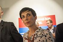 Zástupci TOP 09 sledují výsledky sněmovních voleb. Markéta Pekarová Adamová. 21.10.2017