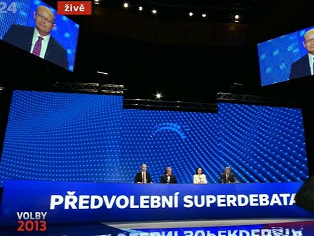 Předvolební superdebata vČeské televizi.