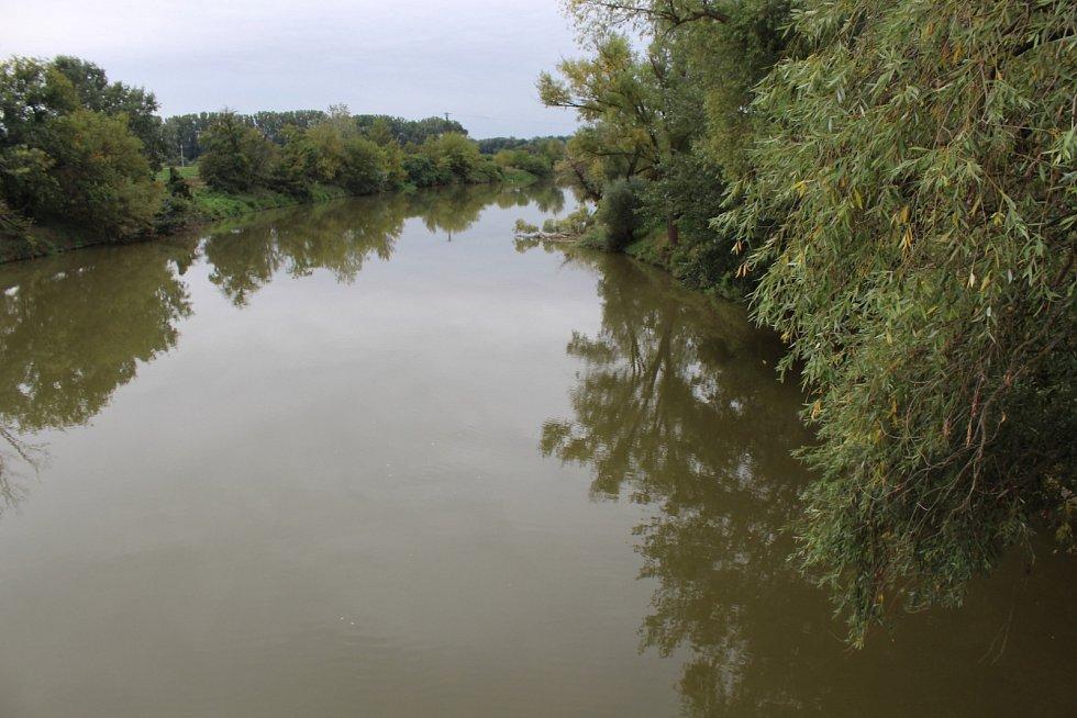řeka Morava v Rohatci