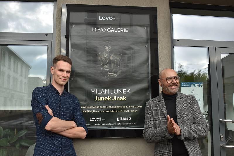 Na výstavu s tématem války dorazil i model Milana Junka, herec Lubomír Seman