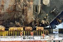 Trajekt Sewol se potopil v dubnu 2014.