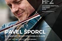 Houslový virtuóz Pavel Šporcl zahraje na Hudebním festivalu Znojmo třikrát.