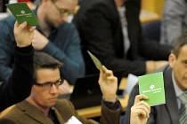 Volba předsedy a místopředsedy Strany zelených na dnešním sjezdu v Brně se zasekla na procesních záležitostech.