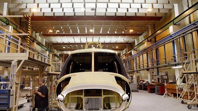 Výroba vrtulníku v Aero Vodochody