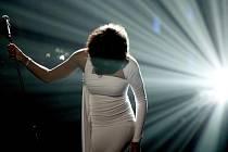 Whitney Houston na koncertu v Los Angeles v roce 2009