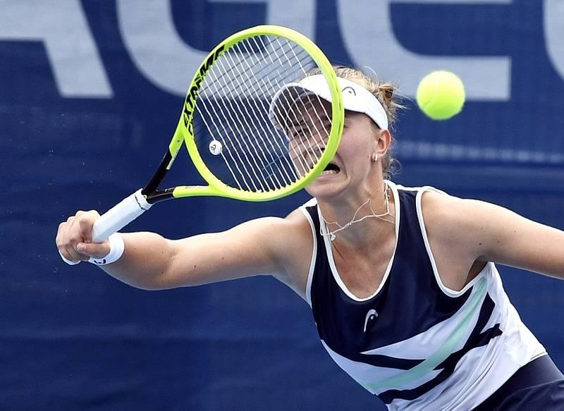 Barbora Krejčíková v semifinále Prague Open 2021.