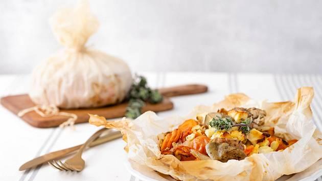 Jehněčí kleftiko pečené se zeleninou