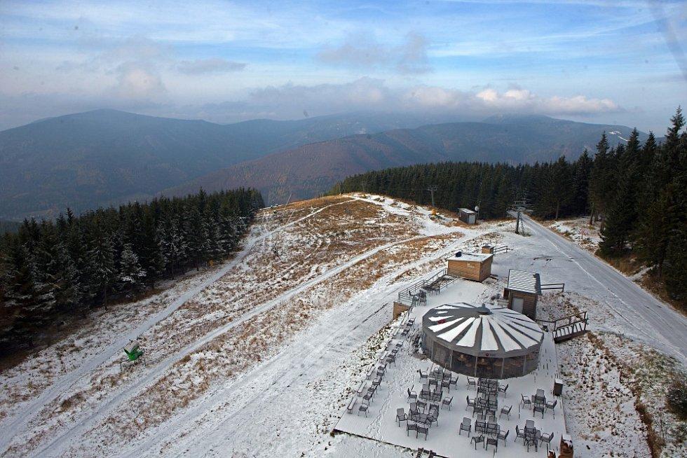 Letošní sníh v Koutech nad Desnou.