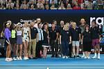 Tenisové hvězdy během charitativní exhibice na pomoc s požáry v Austrálii