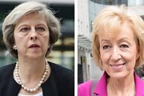 Theresa Mayová (vlevo) a Andrea Leadsomová.