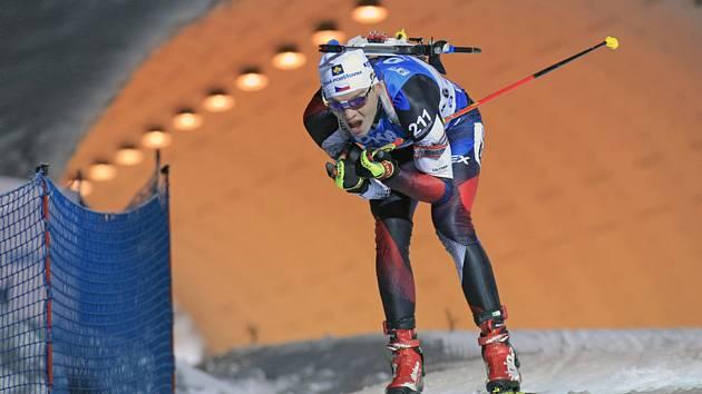 Český biatlonista Adam Václavík