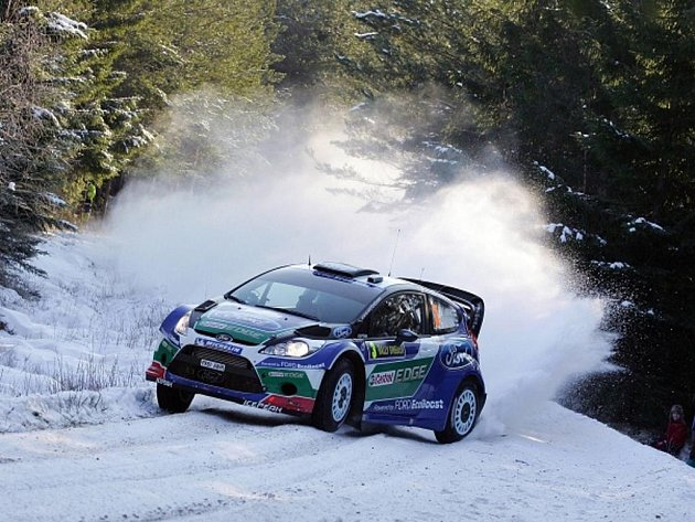 Jari-Matti Latvala na Švédské rallye.