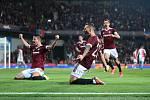 Sparťanská radost z vítězného gólu Haraslína.