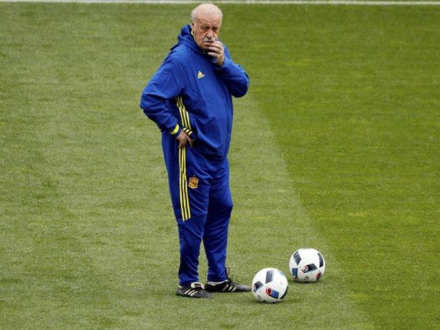 Trenér fotbalisté Španělska Vicente del Bosque.