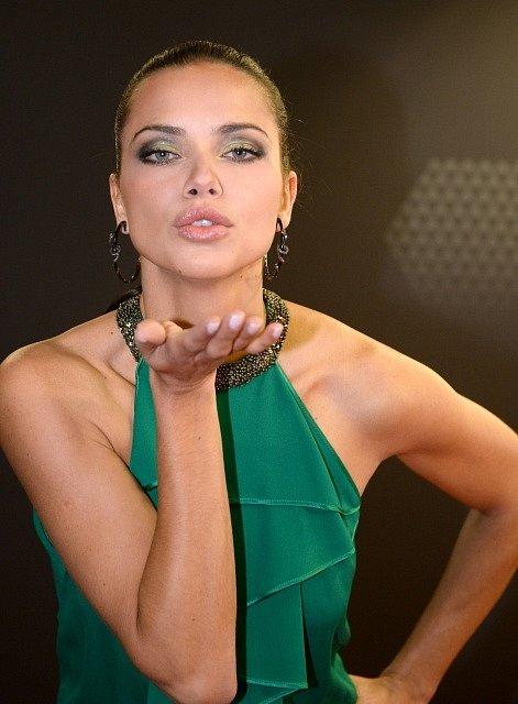 Na vyhlášení dorazila i brazilská modelka Adriana Lima