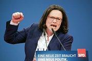 Andrea Nahles, předsedkyně levicové frakce SPD