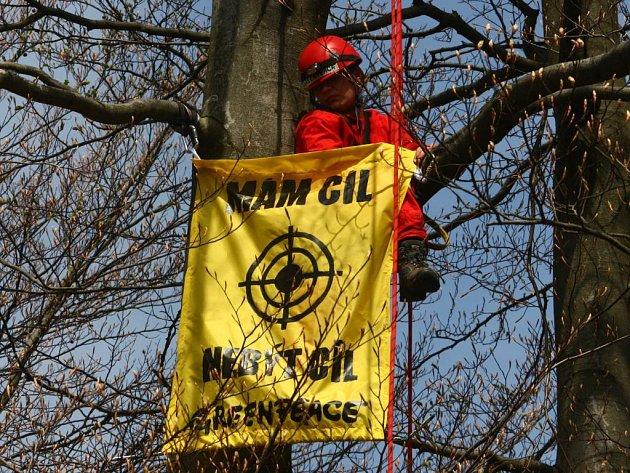 Greenpeace obsadili v Brdech místo pro radar