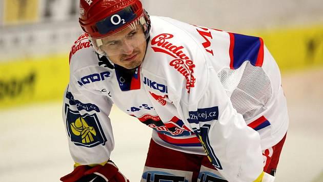 Hokejový útočník Budějovic Michal Mikeska