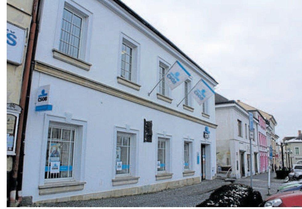 Dům, v němž bydleli a provozovali koloniál Poláčkovi rodiče.