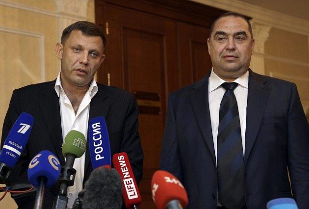 Alexandr Zacharčenko a Igor Plotnickij