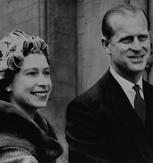 Princ Philip a královna Alžběta II.