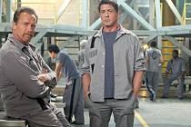 Filmu dodává milý šmrnc dvojice Sylvester Stallone a Arnold Schwarzenegger, kteří si svůj vězeňský duet Plán útěku užili s příkladným nadhledem.