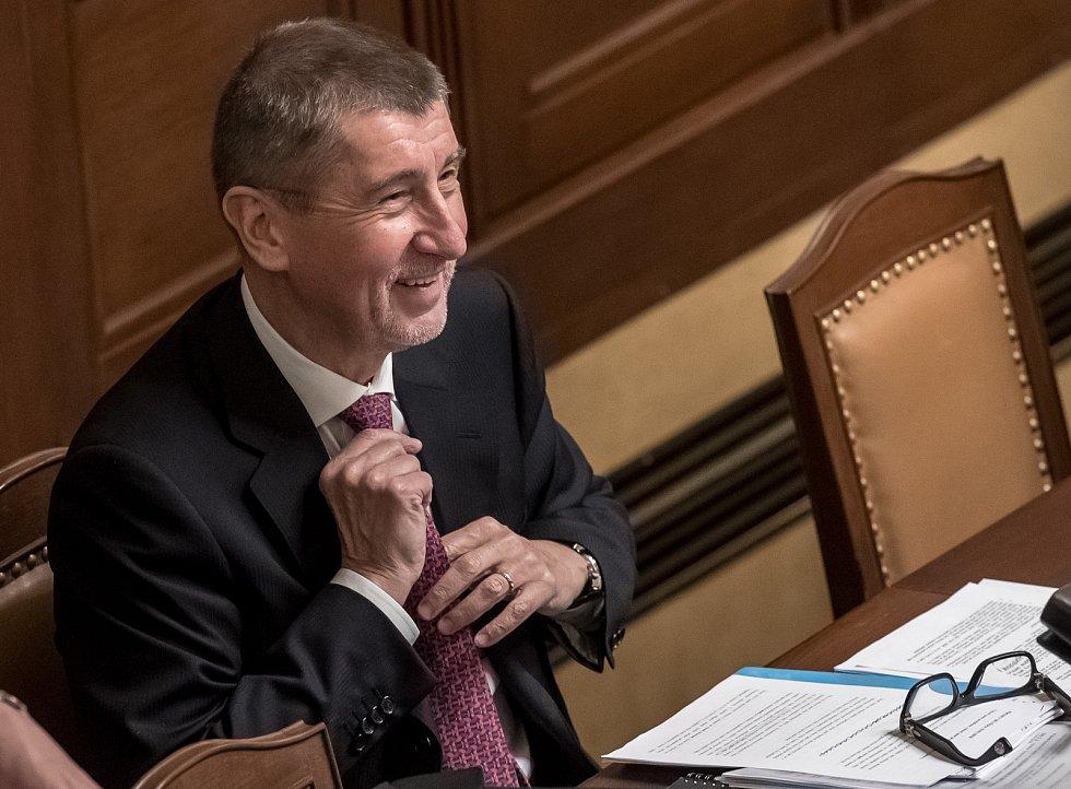Jednání poslanecké sněmovny o důvěře vlády. Andrej Babiš.