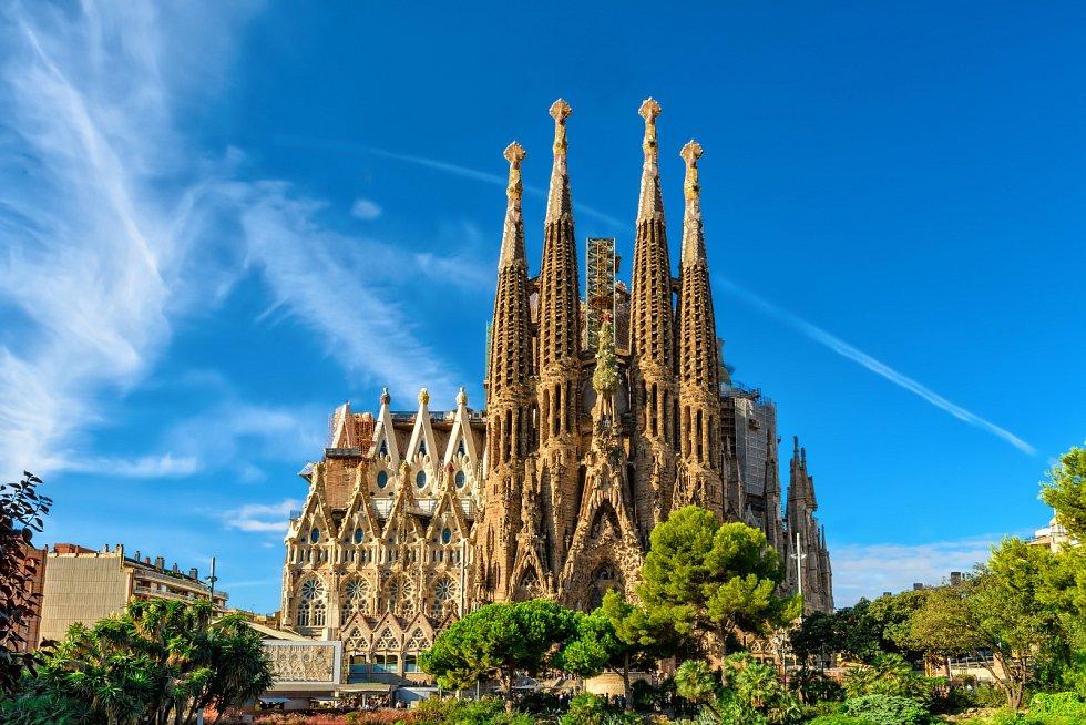 Chrám Sagrada Família v Barceloně