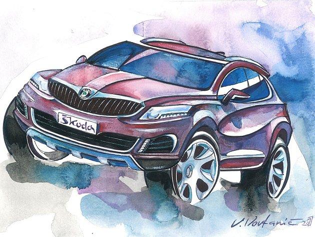 Jeden z návrhů malíře a designéra Vlada Vovkaniče.