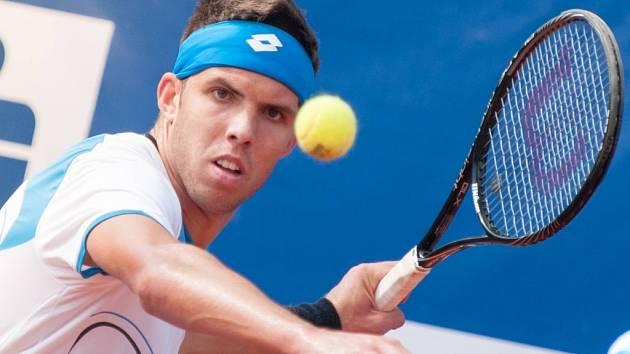 Jiří Veselý ve finále turnaje Prosperita Open v Ostravě.
