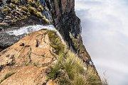 Pohled z vrcholu vodopádu Tugela v Jihoafrické republice
