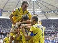 Radost ukrajinských fotbalistů. Uspějí na EURU na domácí půdě?