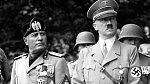 Mussolini při setkání s Hitlerem