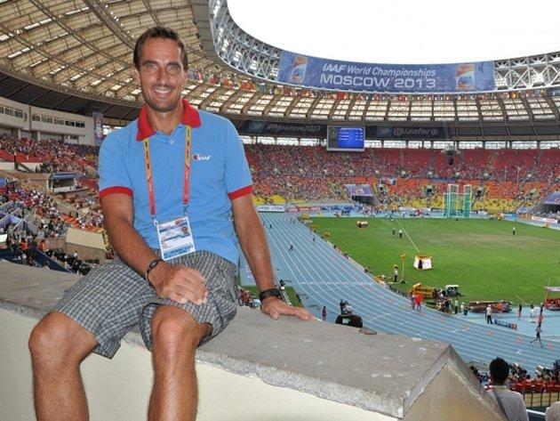 Bývalý světový rekordman v desetiboji Roman Šebrle přijel na MS v Moskvě jako host Mezinárodní atletické federace.