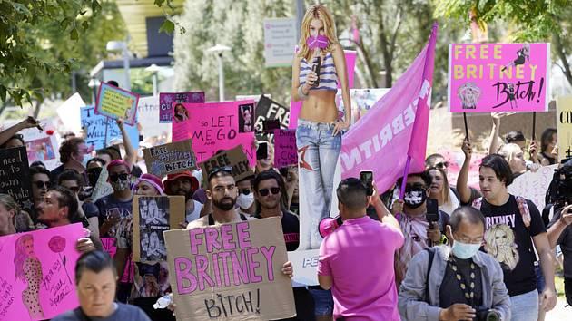 Demonstrace na podporu Britney Spears