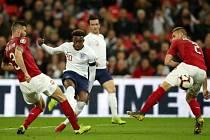 Čeští fotbalisté proti Anglii.