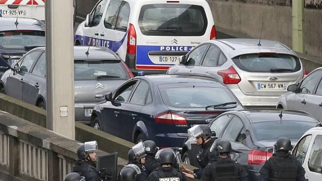 Protiteroristický zásah v Paříži.