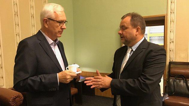 Jiří Drahoš s Romanem Gallo